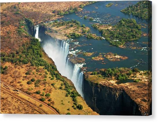 Victoria Falls Canvas Print - Victoria Falls, Zambia by © Pascal Boegli