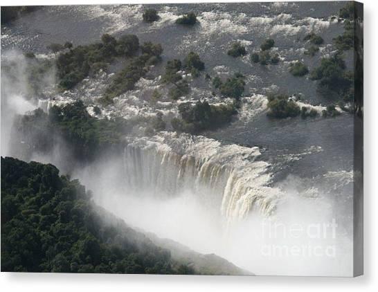 Victoria Falls Zambia Canvas Print by Carol Wright