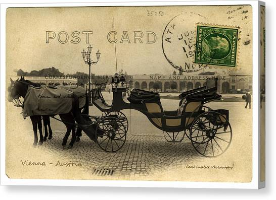 Vienna Carriage Canvas Print by Cecil Fuselier