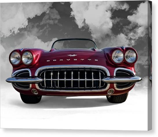 Classic Corvette Canvas Print - View From Cloud 9 by Douglas Pittman