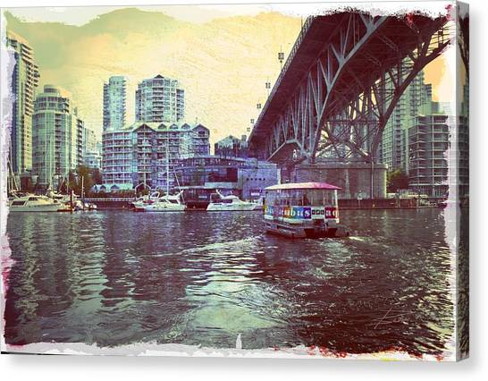 View From Granville Island Canvas Print by Barbara  White