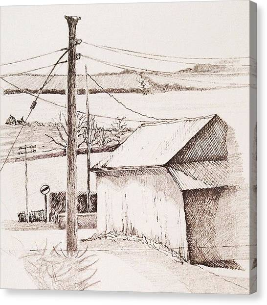 Pencils Canvas Print - View From My Window by Lisa Catherwood