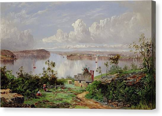 Onion Canvas Print - View From Onions Port Sydney  by William Charles Piguenit