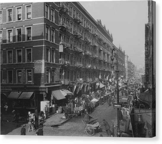 View From Rivington Street On New York Canvas Print by Everett