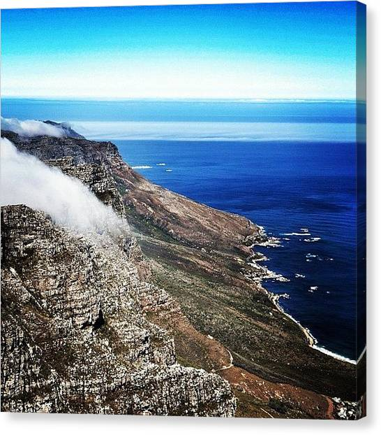 South African Canvas Print - View From Table Mountain by Sean Clarence