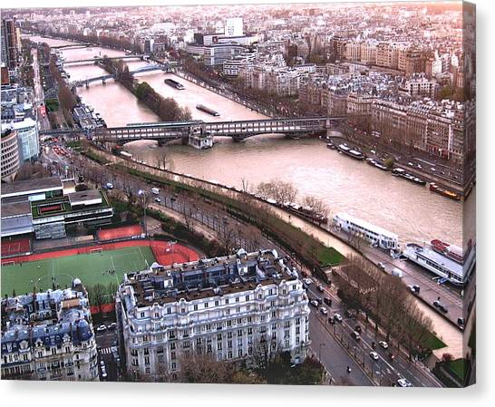 View From The Eiffel Canvas Print by David Ritsema