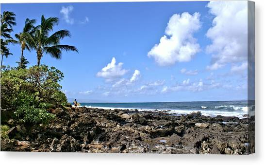 View From The Gazebo On Maui Canvas Print