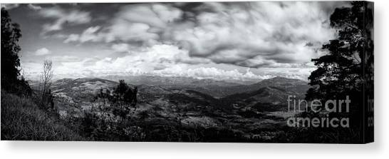 View From The James Taylor Seat  Panorama  Canvas Print