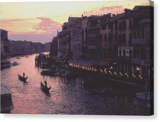 View From The Rialto Venice Canvas Print