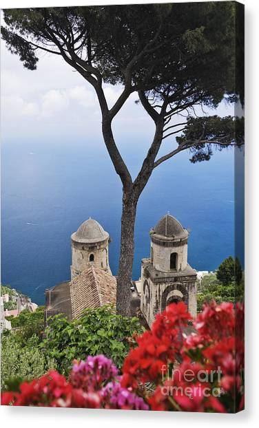 View From Villa Rufolo Gardens Canvas Print by Jeremy Woodhouse