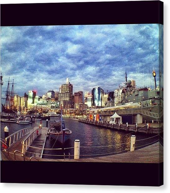 Australian Canvas Print - View Of City Skyline From Maritime by Tina Kershaw