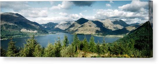 View Of Loch Alsh Canvas Print