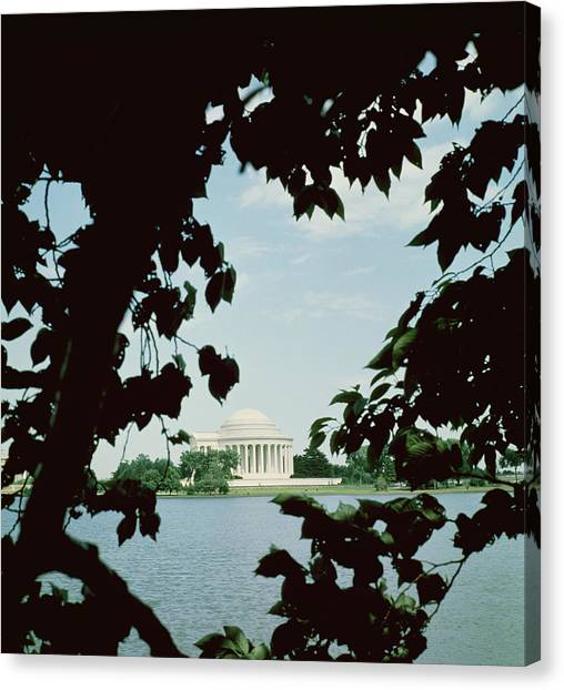 Jefferson Memorial Canvas Print - View Of The Jefferson Memorial by John Russell Pope
