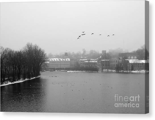 View Of The Mills Canvas Print
