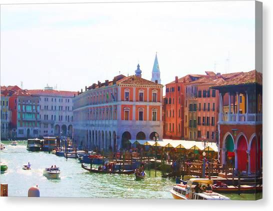 View Of Venice's Market Canvas Print