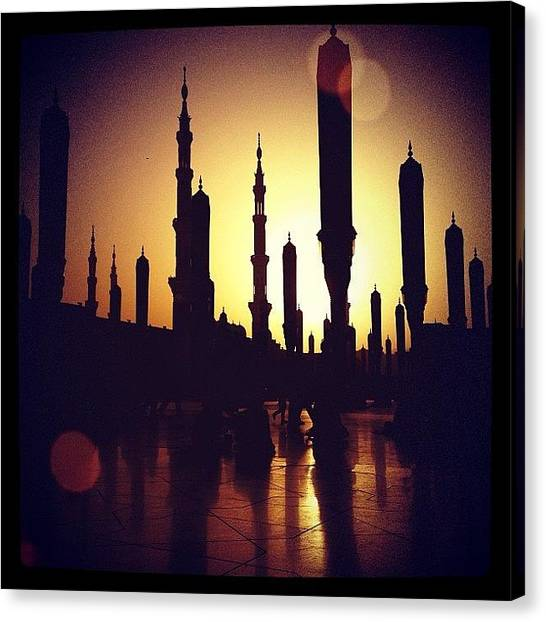 Islam Canvas Print - #view #sun #sunset #mosque #islam by Najla Abdullah