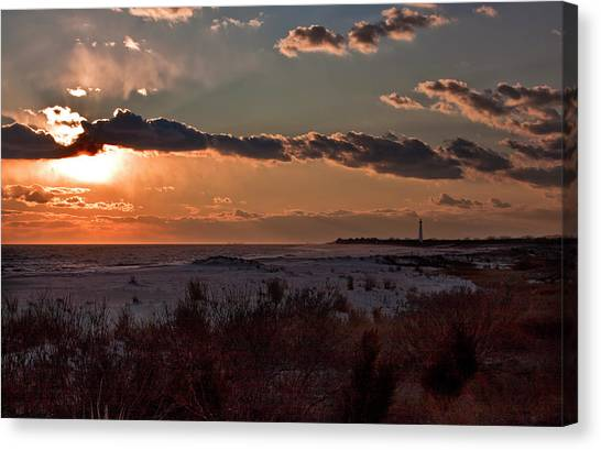 View To The Lighthouse Canvas Print