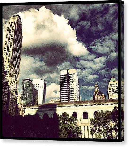 Libraries Canvas Print - View Towards The East From Bryant Park by Arnab Mukherjee