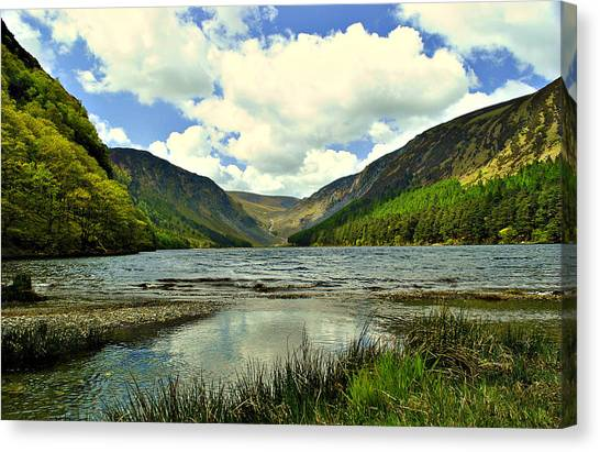 View With A V Canvas Print