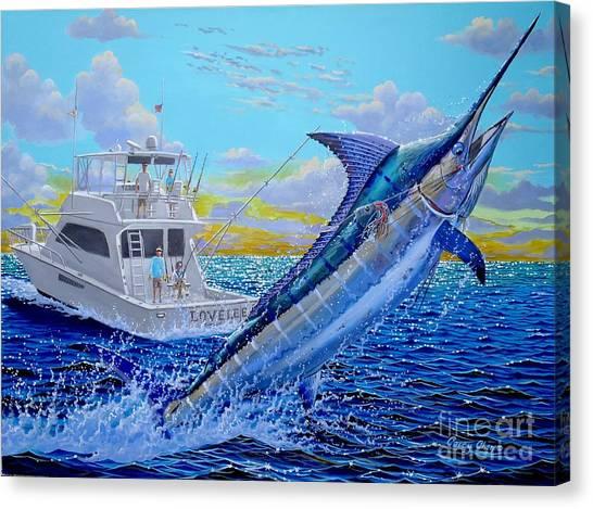 Miami Marlins Canvas Print - Viking Marlin by Carey Chen