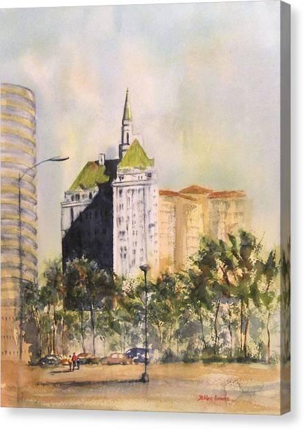 Villa Riviera  Canvas Print