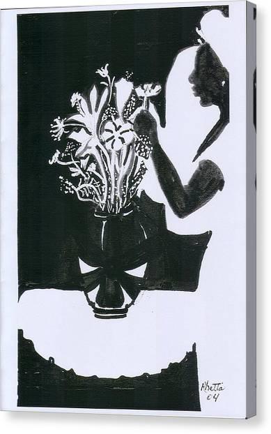 Village Dancers Canvas Print by Rhetta Hughes