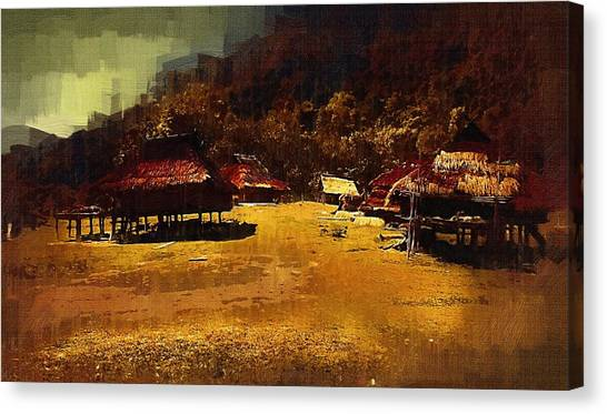 Village In Northern Burma Canvas Print