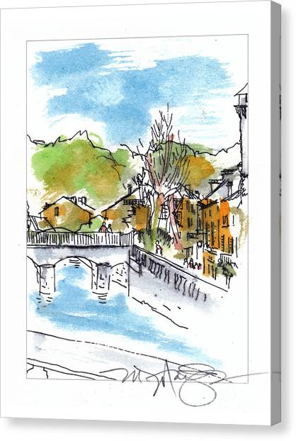 Village In Sw France Canvas Print