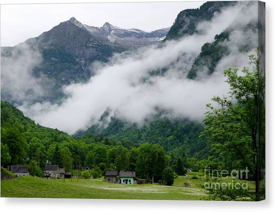 Village In The Alps Canvas Print