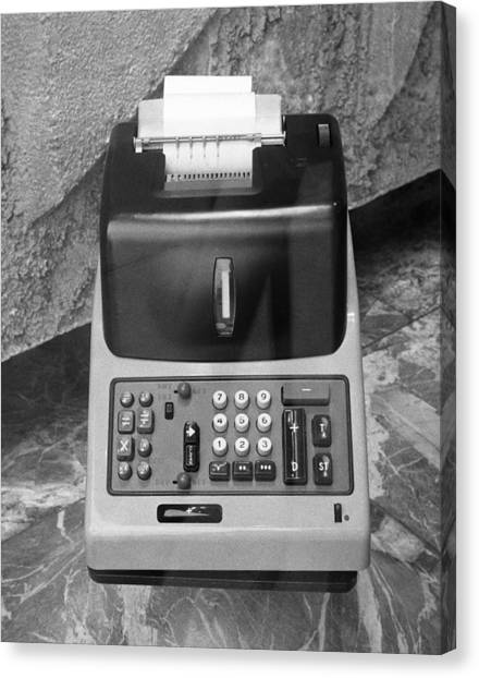 Vintage Adding Machine Canvas Print by George Marks