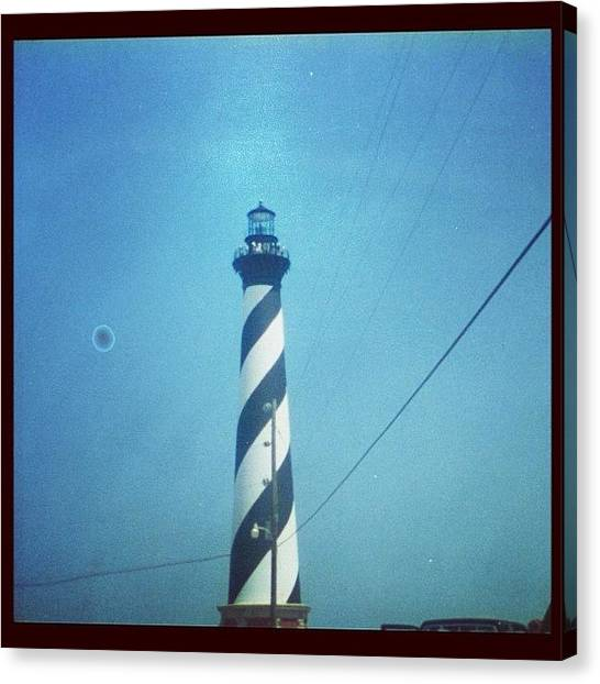 Lighthouses Canvas Print - Vintage Cape Hatteras Lighthouse by James Roberts
