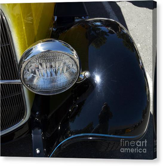 Vintage Car Reflection Canvas Print