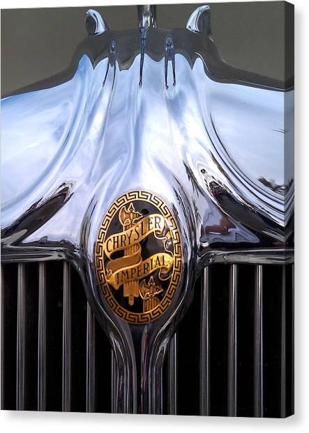 Vintage Chrysler Imperial Logo Canvas Print by Gil Kanat