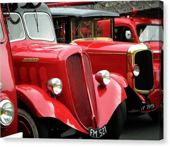 Vintage Fire Trucks Canvas Print