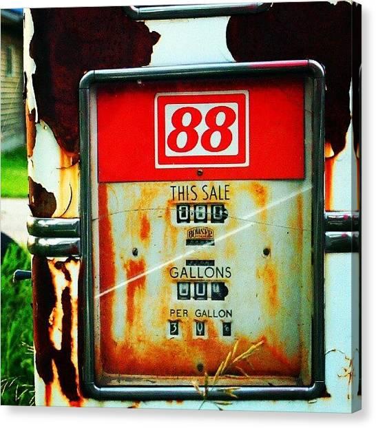 Saskatchewan Canvas Print - #vintage #gas #pump In #dubuc by Michael Squier