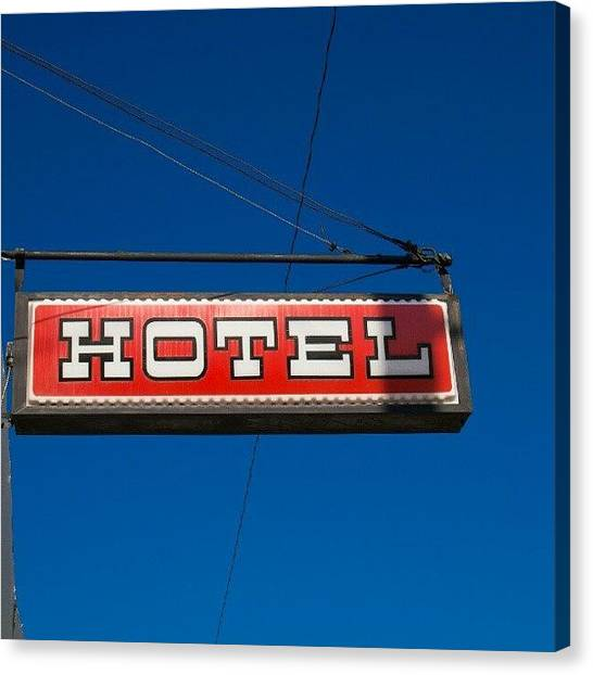 Saskatchewan Canvas Print - #vintage #hotel & #saloon #sign In by Michael Squier