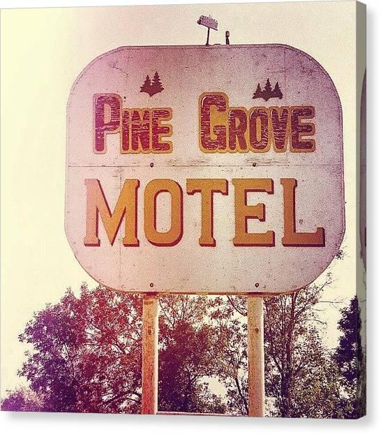 Saskatchewan Canvas Print - #vintage #motel #sign #redux In #35mm by Michael Squier
