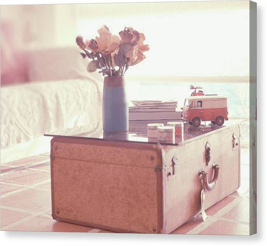 Venezuelan Canvas Print - Vintage Suitcase by Carmen Moreno Photography