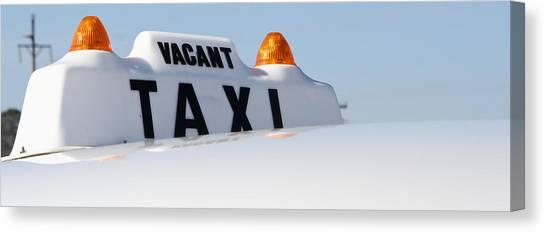 Vintage Taxi Canvas Print