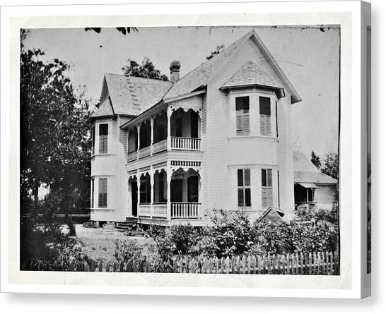 Vintage Victorian House Canvas Print
