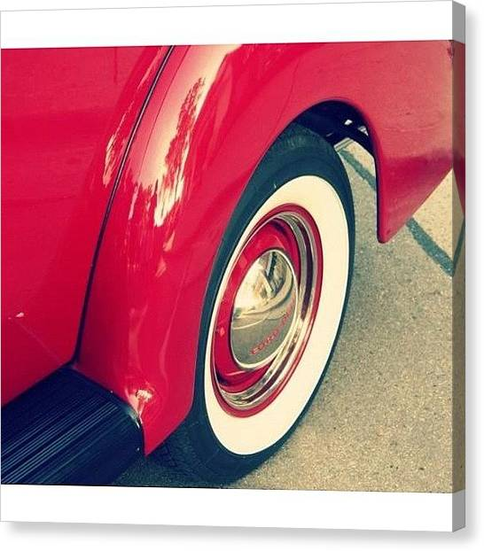Ford Canvas Print - Vintage Wheels! #vintage #retro #wheels by Caleb Schlaack