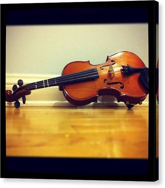 Music Canvas Print - #viola #pegs #music #orchestra #violin by Jenni Munoz