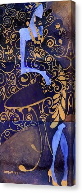 Violet Lady Canvas Print
