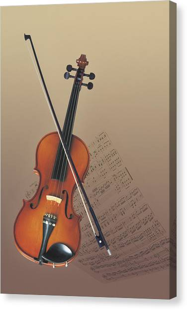 Violins Canvas Print - Violin by Comstock