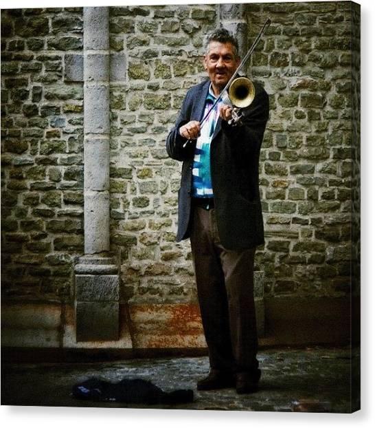 Trumpets Canvas Print - Violin Trompeta by Manuel M Almeida