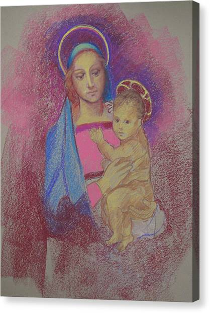 Virgin Mary With Baby Jesus Canvas Print