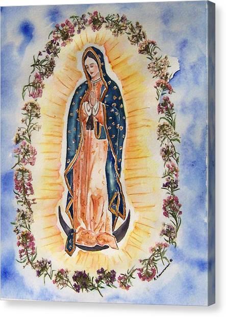 Virgin Of Guadalupe Canvas Print by Regina Ammerman