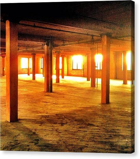 Warehouses Canvas Print - Virgin Space #chicago #loft #light by David Sabat