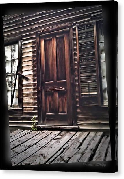 Virginia City Ghost Town Door I Canvas Print