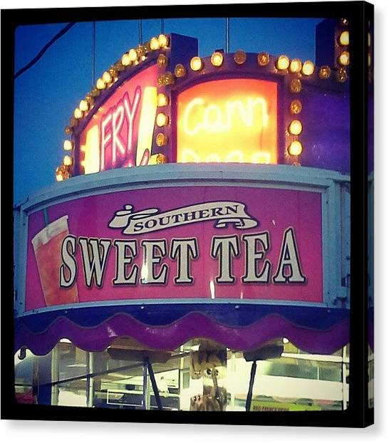 Tea Canvas Print - #virginia #fair #county #sweet #tea by Nicole Macdonald